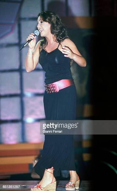 The Spanish flamenco singer Nina Pastori during a performance Madrid Spain