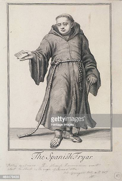 'The Spanish Fryar' A friar holds out a book possibly a prayer book for sale From Cries of London