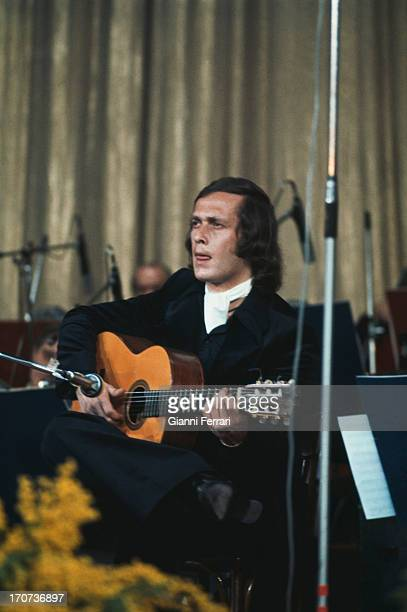 The Spanish guitarist Paco de Lucia during a concert Madrid Castilla La Mancha Spain