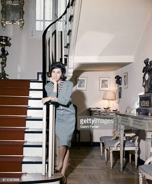 The Spanish journalist Natalia Figueroa at her home in Madrid Spain