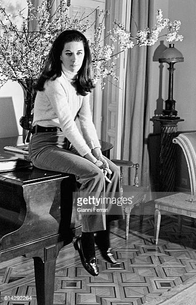 The Spanish journalist Natalia Figueroa at his home in Madrid Madrid Spain