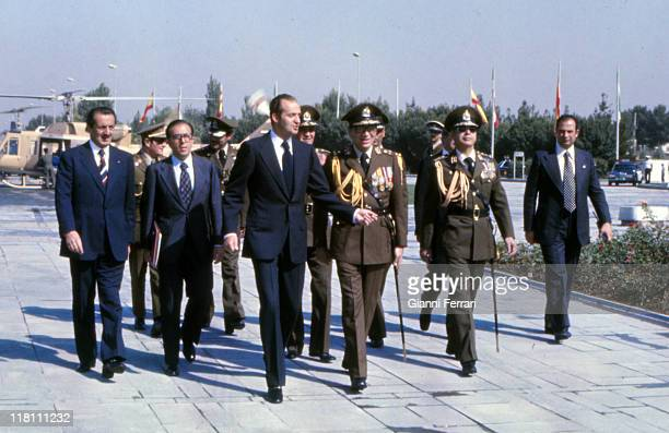 The Spanish King Juan Carlos of Borbon and the Shah Reza Pahlavi will deposits a wreath in the monument of the Unknown Soldier Teheran Iran