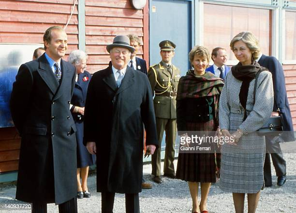 The Spanish King Juan Carlos the Norwegian King Olav the Norway Princess Sonja and the Spanish Queen Sofia during the Spanish Kings's visit to Norway...