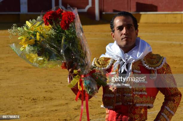 The Spanish matador Iván Fandiño gestures during a bullfight on 2014 in 'La Chata' bullring in Soria north of Spain