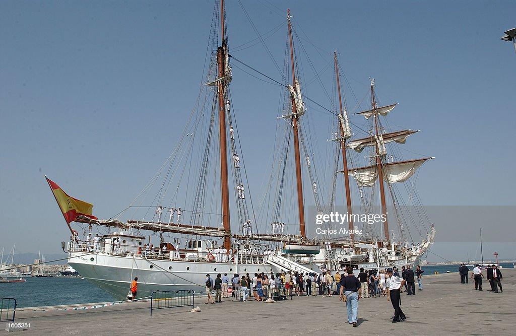 "Spanish Military Training Ship ""Juan Sebastian Elcano"" : News Photo"