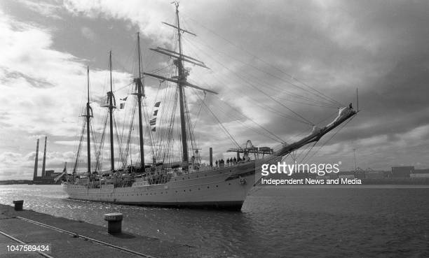 The Spanish Navy Training Ship Juan Sebastian de Elcano in Alexandra Basin