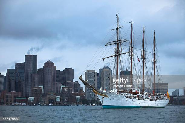 The Spanish Navys 1927 tall ship Juan Sebastian De Elcano arrived in Boston on Monday June 15 2015 before offering public tours from Tuesday through...