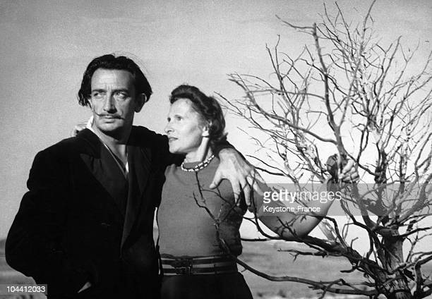 The Spanish painter Salvador DALI and his wife Gala.