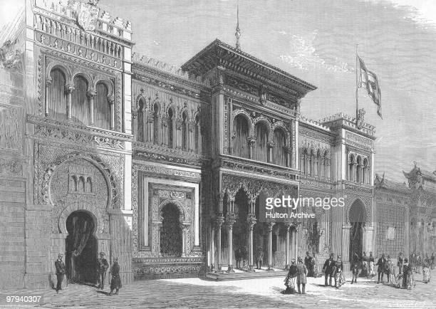 The Spanish Pavilion at the Paris World's Fair 1878