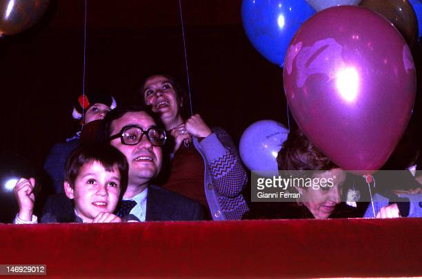 The Spanish political Rodolfo Martin Villa during the Cavalcade of the Magi with his family Madrid Spain
