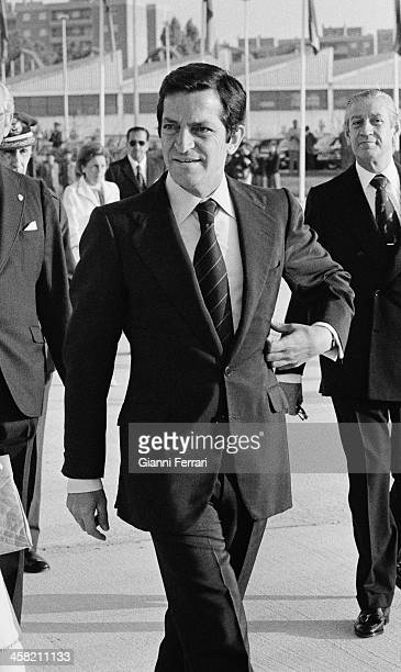 The Spanish President Adolfo Suarez at Barajas airport 24th June 1979 Madrid Spain