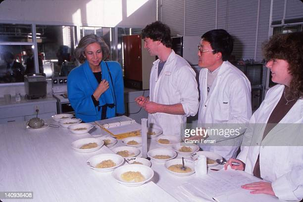 The Spanish Queen Sofia during her visit to Massey Agricultural College 22nd June 1988 Wellington New Zealand
