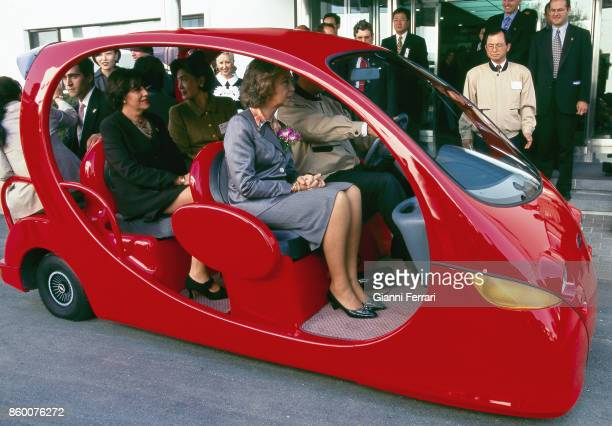 The Spanish Queen Sofia on her official trip in South Korea Gyeiongju 1996South Korea