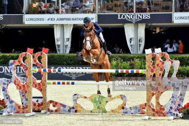 The Spanish rider Manuel Fernandez Haro during his participation in the Queen's Cup Segura Viudas during the CSIO Barcelona 2018 at the Real Club de...