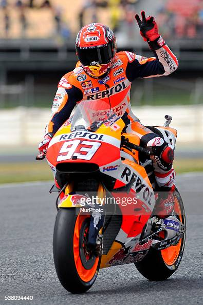 The Spanish rider, Marc Marquez, of Repsol Honda Team, getting his... News Photo | Getty Images