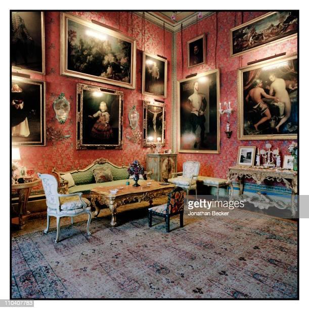 The Spanish room of the Palacio de Liria is photographed for Vogue Espana on March 15-17, 2010 in Madrid, Spain. L-R: 'Santo Domingo de Guzman' by...