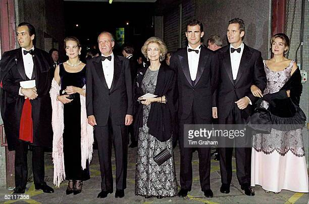 The Spanish Royal Family Jaime De Marichalar Infanta Elena King Juan Carlos Queen Sofia Crown Prince Felipe Inaki Urdangarin And Infanta Cristina...