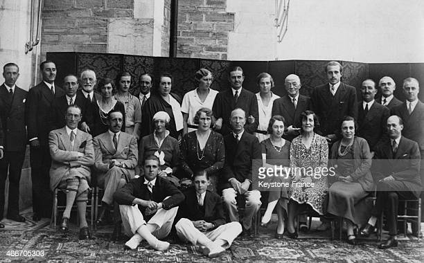 The Spanish royal family on the terrace of the Magdalena Palace on August 25 1930 in Santander Spain