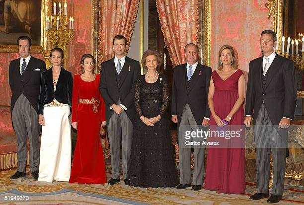 The Spanish Royal Family receive Foreign Ambassadors at the Royal Palace on January 13, 2005 in Madrid, Spain.