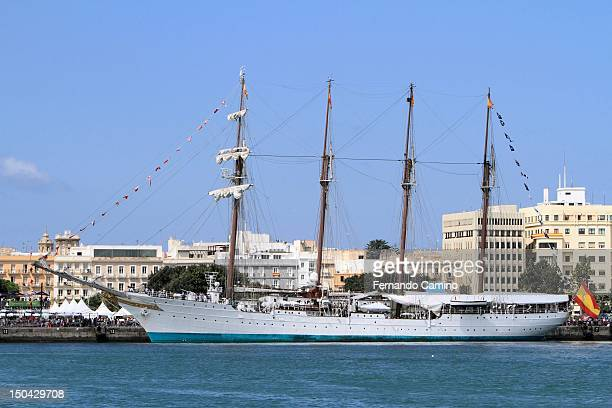 The Spanish school Goleta Juan Sebastian de Elcano Class A of 1927 on July 29 2012 in Cadiz Spain