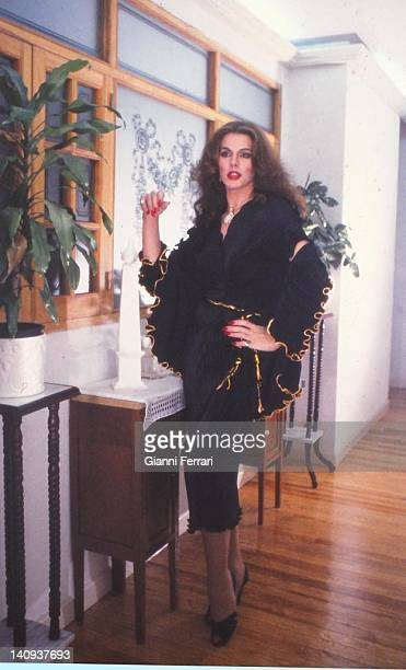 The Spanish singer and actress transsexual Bibi Andersen Bibiana today at her home in Madrid Madrid Spain