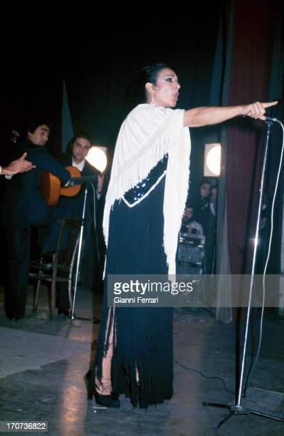 The Spanish singer and dancer Lola Flores during a show Madrid Castilla La Mancha Spain