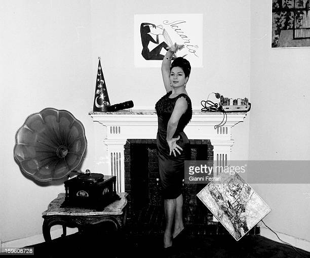 The Spanish singer and dancer Lola Flores with some objects related to her horoscope Madrid Castilla La Mancha Spain