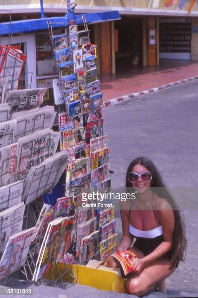 The Spanish singer Isabel Pantoja in her holidays in Marbella. 6th June 1978, Malaga, Spain.