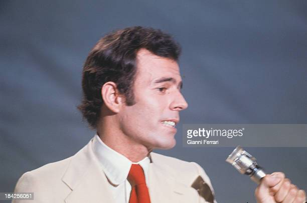 The Spanish singer Julio Iglesias during a concert Madrid Castilla La Mancha Spain