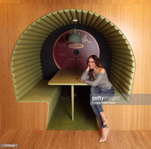 The spanish singer Monica Naranjo poses during an interview for Europa Press in which she has presented her album 'Renaissance' to commemorate her 25...