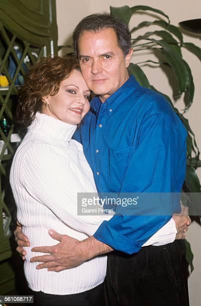 The Spanish singer Rocio Durcal and her husband Spanish singer Antonio Morales Junior 1995 Torrelodones Madrid Spain