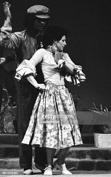 The Spanish singer Rocio Jurado during the theatrical performance Cancionera Madrid Spain
