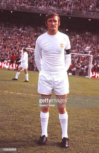 The Spanish soccer player of 'Real Madrid' Ignacio Zoco in the stadium 'Santiago Bernabeu' Madrid, Spain.