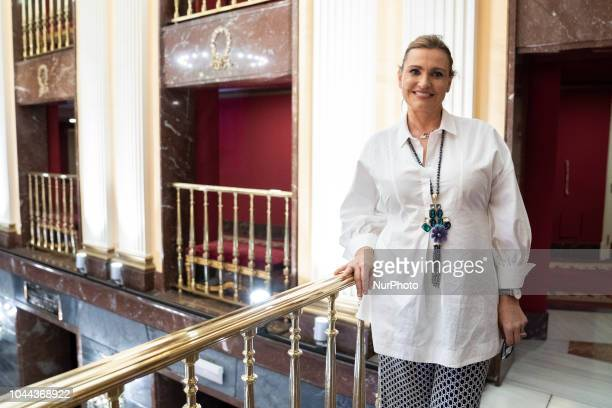 The Spanish soprano Ainhoa Arteta poses during the session of portraits at the tetro de la zarzuela in Madrid Spain October 1 2018