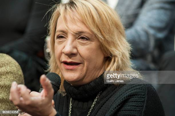 The Spanish stage director Blanca Portillo attends the press conference for the play 'El angel exterminador' by Luis Bunuel at the Espanol Theatre on...