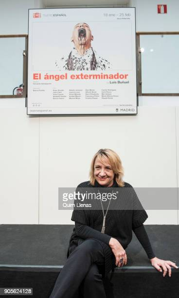 The Spanish stage director Blanca Portillo poses for a photo shoot after the press conference for the play 'El angel exterminador' by Luis Bunuel at...