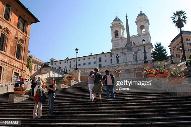 The Spanish Steps are a set of steps in Rome, Italy, climbing a steep slope between the Piazza di Spagna at the base and Piazza Trinità dei Monti,...