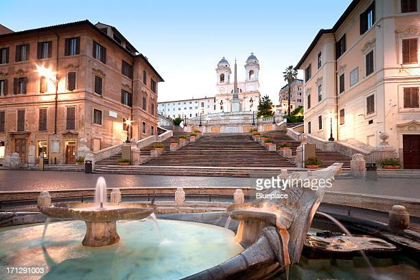 the spanish steps, rome, italy - rome italy stock pictures, royalty-free photos & images