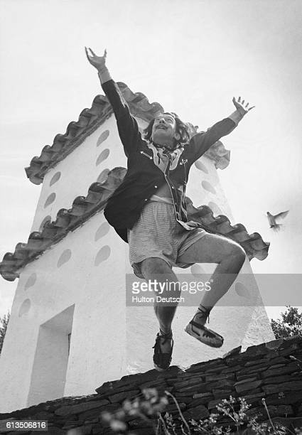 The Spanish Surrealiast painter, Salvador Dali at his home in Port Lligat, Spain, 1955.