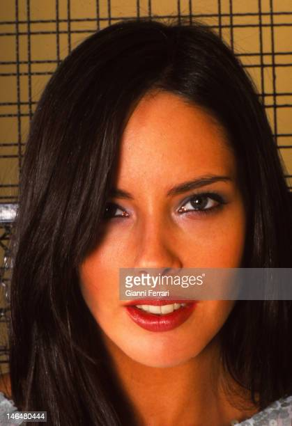 The Spanish top model Estefania Luik daughter of Paquita Torres Miss Europe 1966 and Clifford Luik basketball player of Real Madrid Madrid Spain