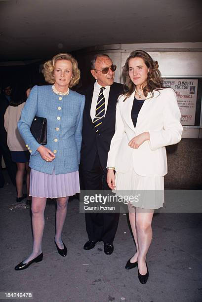 The Spanish TV presenter Joaquin Prat with his wife Marianne and their daughter Alexandra 20th October 1996 Madrid Castilla La Mancha Spain