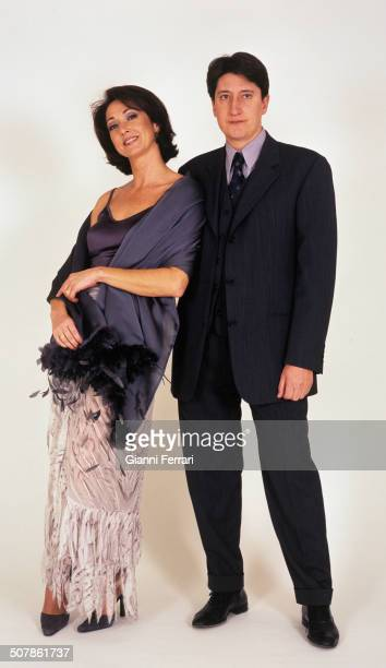 The Spanish TV presenters Ana Rosa Quintana and Juan Carlos Rivero in a photo shoot 16th December 1999 Madrid Spain