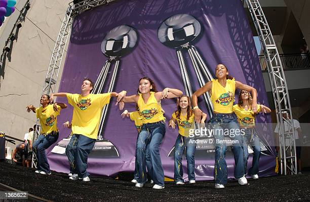 The Sparks Kids participated with the Los Angeles Sparks to celebrate their Back to Back World Championships at the New Hollywood and Highland...
