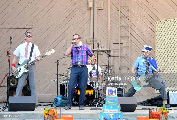 The Spazmatics celebrate the 100th episode of Nickelodeon's The Thundermans at Paramount Studios on June 28 2017 in Hollywood California