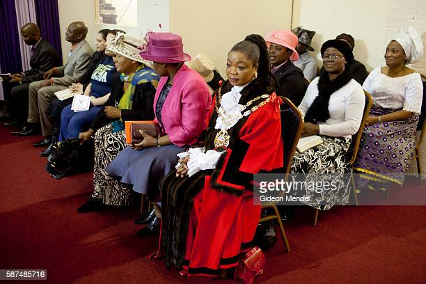 The Speaker of the Hackney Council councillor Susan Fajan Thomas attends the Mountain of Fire and Miracles Ministries Church in Hackney Wick This...