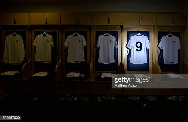 The special number nine shirt for Jeff Astle Day celebrating the former WBA legend who made his debut against Leicester City