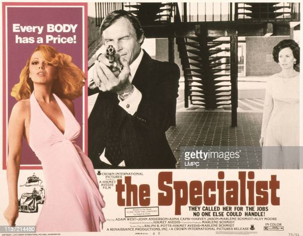 The Specialist poster US poster from left Ahna Capri Adam West 1975