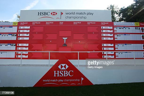 The Spectator Village during the First Round of the HSBC World Matchplay Championship at The Wentworth Club on October 11, 2007 in Virginia Water,...