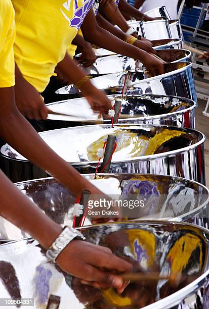 The Speyside High School Steel Orchestra performs at the Junior Panorama finals at the Queen's Park Savannah on February 27 2011 in Port of Spain...