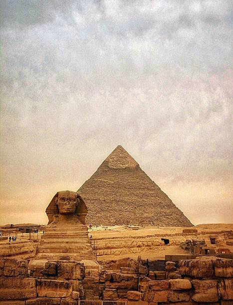 The Sphinx And Pyramid Of Chephren Wall Art